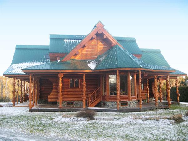 Construction maison bois rond